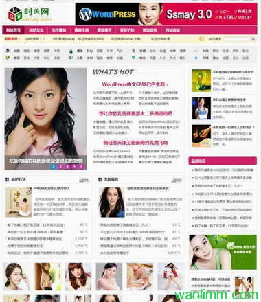 wordpress CMS主题:Ssmay主题4.1版  PC+手机版